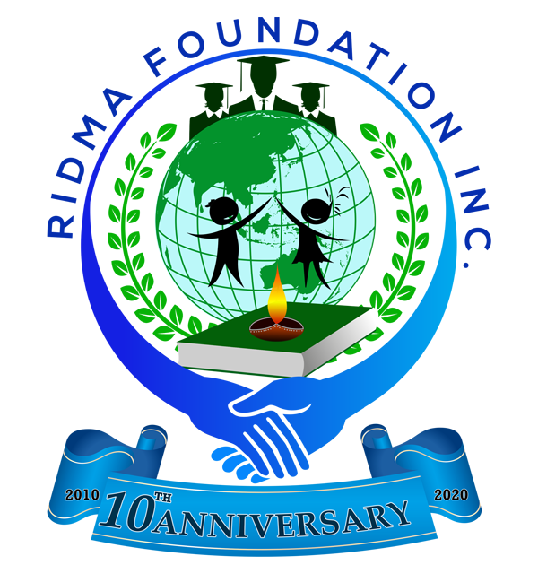 Ridma Foundation 10th Anniversary Logo